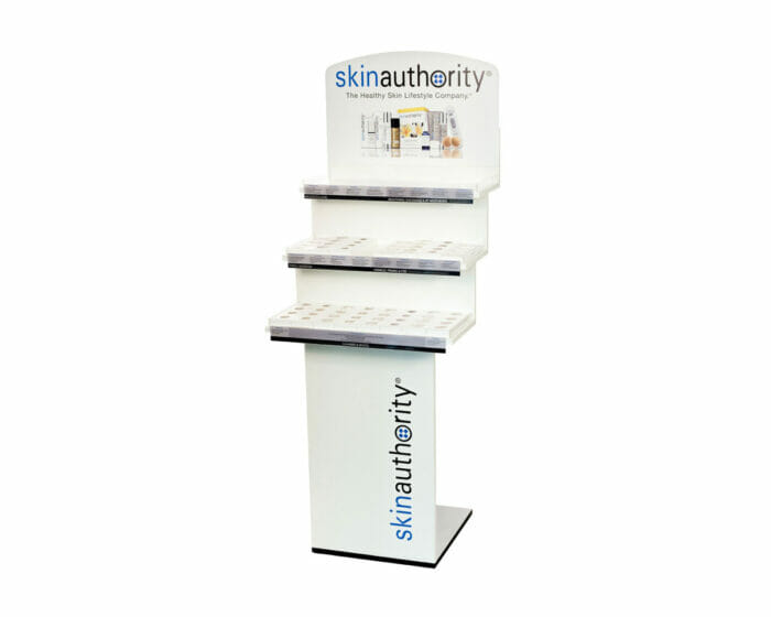 Standing wall display system for retailers