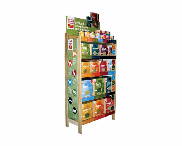 Wall display shelving unit for retailers