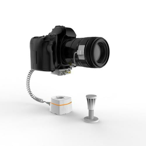 Camera stand with security
