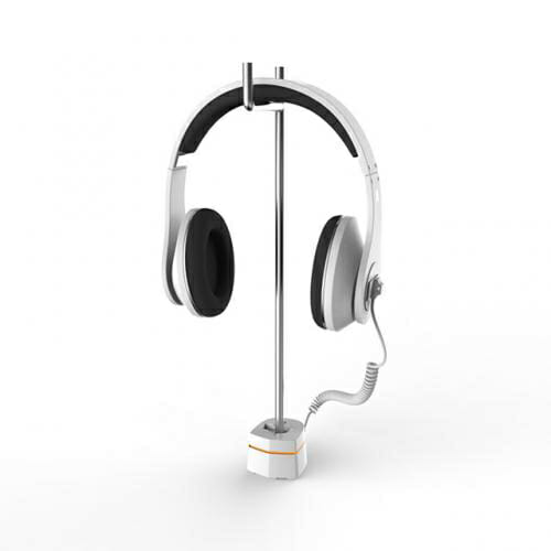 Secure headphone countertop displays for electronics products