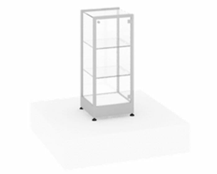 Slimline countertop glass showcase