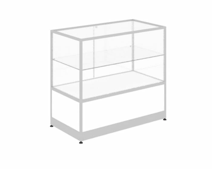 Aluminium and glass counter