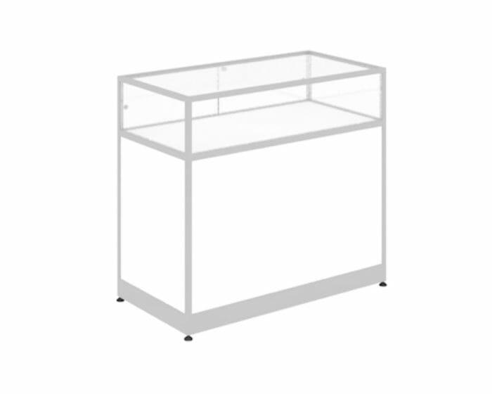 Glass and aluminium retail counter