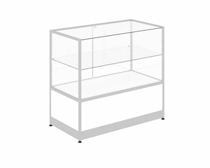 Glass and aluminium POS counter