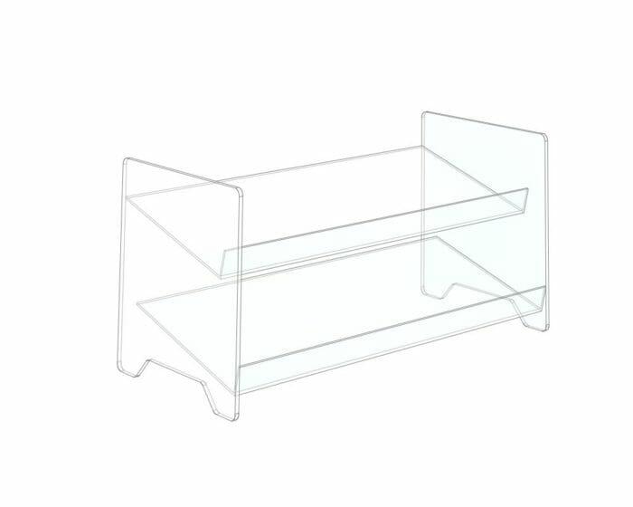 2 tier acrylic display stand
