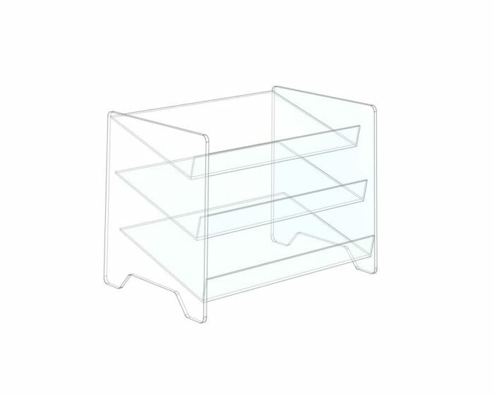 Acrylic (clear plastic) display shelf