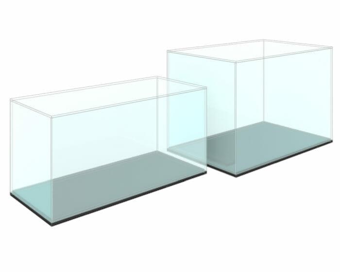 Acrylic (perspex) display showcase