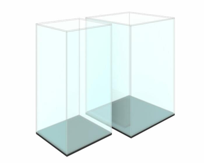 Vertical perspex display case
