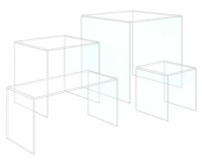 Acrylic (perspex/plexiglass/plastic) counter top display stand