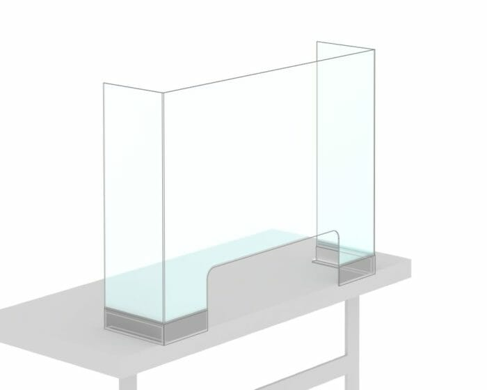Perspex (acrylic) POS sneeze guard