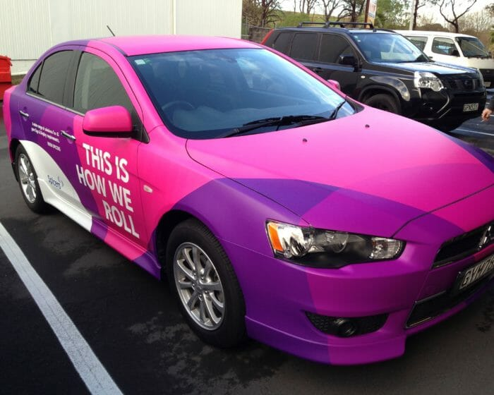 Car wrap, vehicle decal